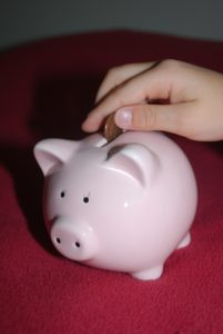 child piggy bank